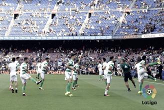 Última visita del Betis al Camp Nou con goleada azulgrana
