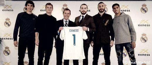 Exness, nuevo patrocinador del Real Madrid