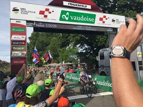 Peter Sagan vince a Fraunfeld. Fonte: Tour de Suisse/Twitter