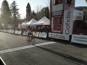 Thomas De Gendt vince a Camprodòn. Fonte: Volta a Catalunya/Twitter
