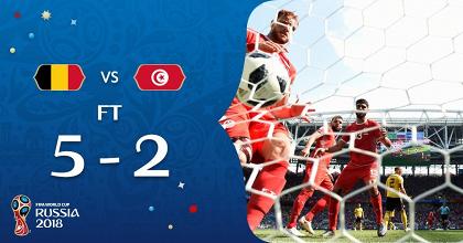 Russia 2018 - Manita del Belgio, che massacra la Tunisia (5-2)
