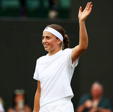 Jelena Ostapenko, neo-semifinalista di Wimbledon. | @JelenaOstapenk8, Twitter.