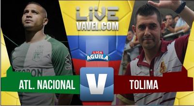 Atlético Nacional vs Deportes Tolima en VIVO hoy en Liga Águila 2017