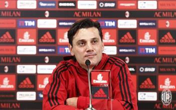 """Milan, Montella in conferenza: """"Sono ottimista perché si intravede qualcosa"""""""