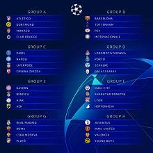 Champions League 2018/2019 - Sorteggiati gli otto gironi