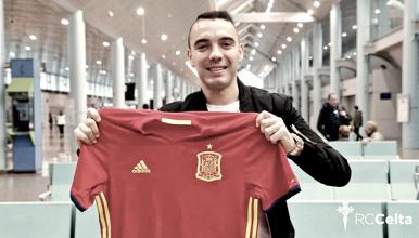 Aspas regresa a Vigo tras los amistosos con 'La Roja'