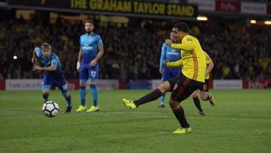 L'esultanza di Cleverley dopo il gol del 2-1 | Watford Twitter