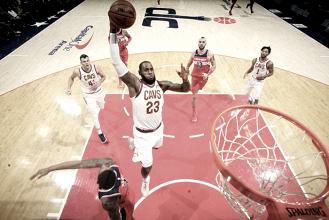 LeBron James faz 57 pontos e comanda vitória dos Cavaliers sobre Wizards
