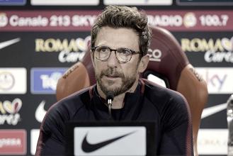 """Roma - Di Francesco in conferenza: """"Tolgo il derby dalla classifica, è una partita diversa dalle altre"""""""