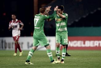 Borussia Mönchengladbach arranca vitória no fim diante do Rot-Weiss Essen