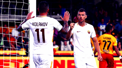 Serie A - La Roma passeggia col Benevento: 0-4 al Vigorito