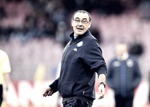 la delusione di sarri dopo l'eliminazione del Napoli dalla Coppa Italia