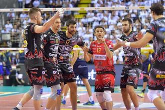 Volley M - Nella Superlega UnipolSai vincono facile Lube e Perugia. Trento regola al tie-break Modena