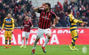 Il Milan vince contro un ottimo Parma: a Inglese rispondono Cutrone e Kessié