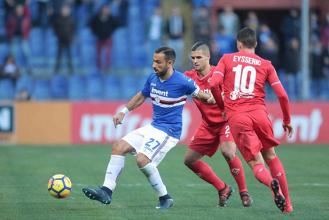 Quagliarella fa tris e la Samp sorride: 3-1 alla Fiorentina