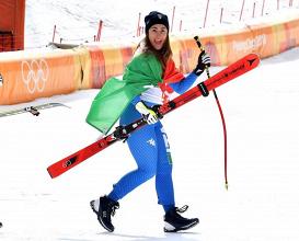 Sci Alpino - Combinata, Crans Montana: Goggia prima nel SuperG; super Delago seconda | Twitter Sofia Goggia