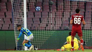 Insigne fa impazzire Napoli, vittoria al cardiopalma contro il Liverpool