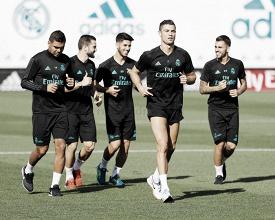 Primer entrenamiento para preparar la Champions