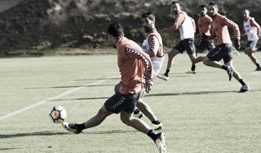 Preparación del Valladolid para el partido contra el Oviedo