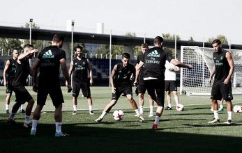 Último entrenamiento del Real Madrid antes del Clásico de vuelta