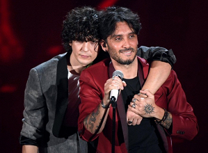 I due vincitori del Festival, Ermal Meta e Fabrizio Moro (twitter - @metaermal - profilo ufficiale9