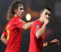 Villa y Puyol visitarán a La Roja antes de la Eurocopa