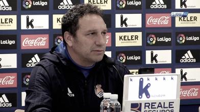 """Eusebio: """"Estamos con ganas y mentalidad de ganar el partido del domingo"""""""