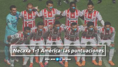 Necaxa 1-1 América: puntuaciones de Necaxa en la jornada 14 de la Liga MX Clausura 2018
