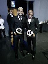 Gabigol e Rodrygo marcam presença na festa de premiação do Paulistão