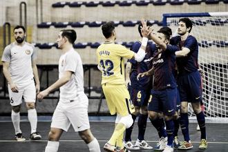 El Barça arranca con goleada la Ronda Élite