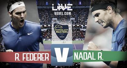 Risultato Federer - Nadal in diretta, LIVE finale Shanghai - Federer trionfa! (2-0)