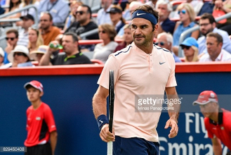 Federer comes through Ferrer test to reach the last eight at the Rogers Cup