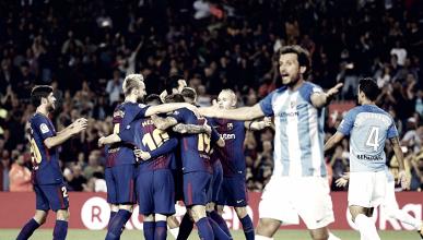 El Málaga pierde en el Camp Nou ante un gran Iniesta y un mal árbitro