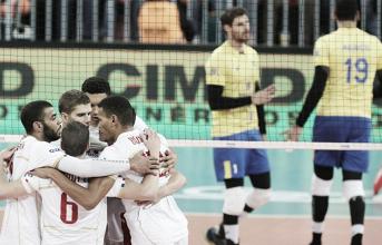 Brasil para em Ngapeth, sucumbe à França na decisão da Liga Mundial e adia sonho do deca