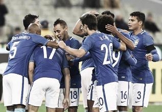 Com Diego Souza inspirado, Brasil goleia Austrália e encerra fase de amistosos