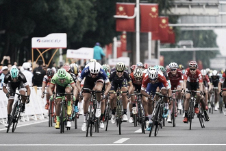 Gaviria logra el 'hat trick' en China