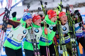 Biathlon - Ruhpolding: la Germania di Dahlmeier si impone in staffetta