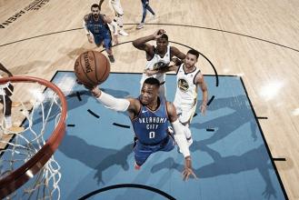 Westbrook brilha e comanda vitória do Thunder sobre Warriors