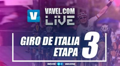 Resultado etapa 3 del Giro de Italia 2017: los abanicos le dan la primera a Fernando Gaviria