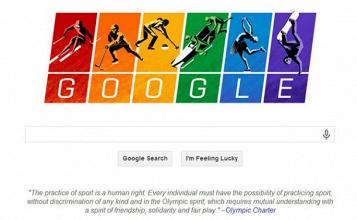 Google muestra su 'orgullo' en la inauguración de los Juegos de Sochi