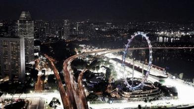 Preview do GP de Cingapura de 2017, ao cair da noite