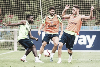 El Levante continúa los entrenamientos en Buñol