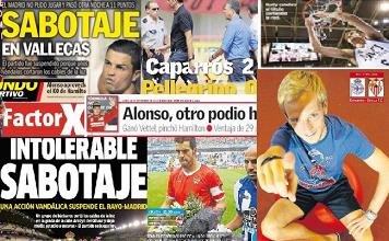 Las portadas del 24 de septiembre de 2012