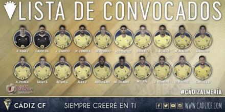Novedades en la lista de Cervera para el partido de Copa del Rey