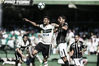 Em duelo de forte marcação, Coritiba e Corinthians empatam sem gols