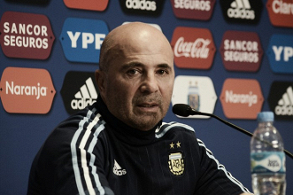 """Sampaoli: """"Vamos a Uruguay con la obligación de ganar"""""""