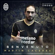 Martín Cáceres, nuevo jugador del Hellas Verona