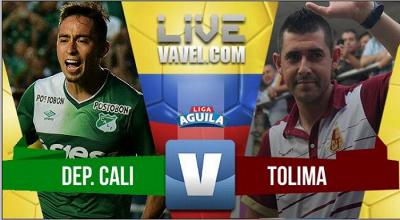 Cali vs Tolima en vivo y directo online por la Liga Águila 2017 (1-2)