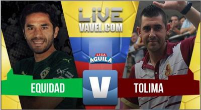 Equidad vs Tolima en vivo y en directo online - Liga Águila II