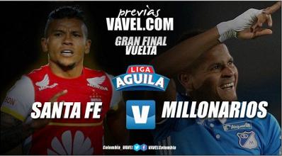 Previa Santa Fe vs Millonarios: El 'león' cree y quiere la remontada para ser campeón